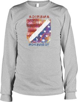America to Dive For, Diving Flag Long Sleeve T-shirt