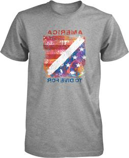 America To Dive For, Diving Flag Men's T-shirt