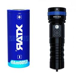 XTAR D26 1600 UPDATED 2020 MODEL Diving Flashlight+FREE 2665