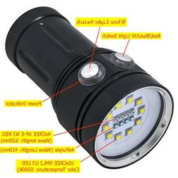 Diving Flashlight Waterproof Underwater 100W for Photography
