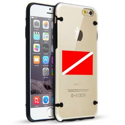 For iPhone SE 5s 6 6s 7 8 Plus Clear TPU Hard Case Dive Flag