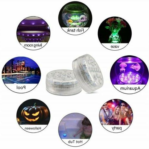 13LED Multicolor Diving Waterproof LED Remote Control Light