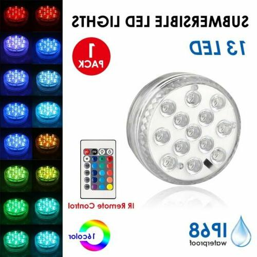13LED RGB Multicolor Submersible Diving LED Remote Control Light