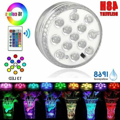 13led rgb multicolor submersible diving waterproof led