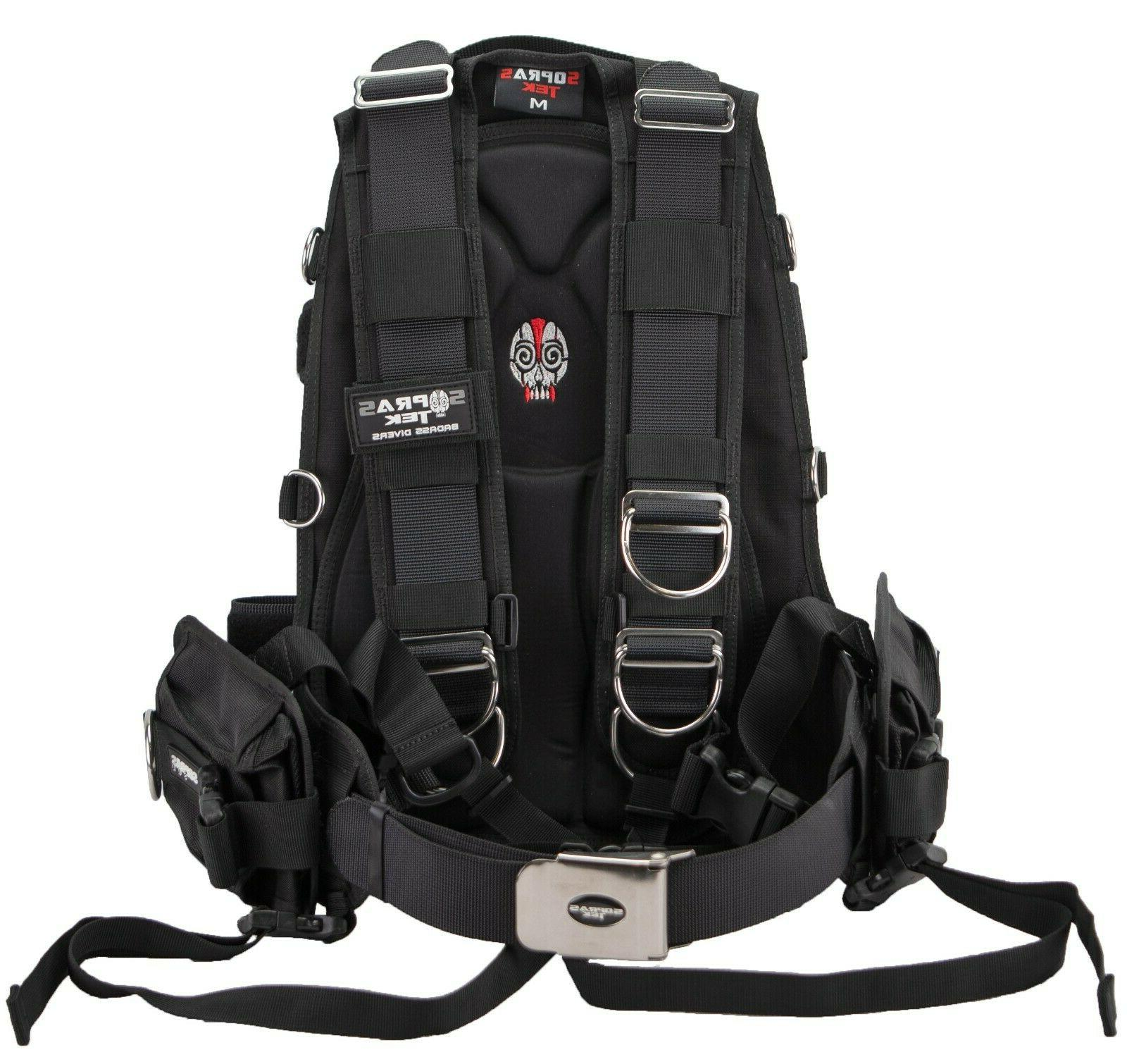 24012 soft harness with double crotch scuba