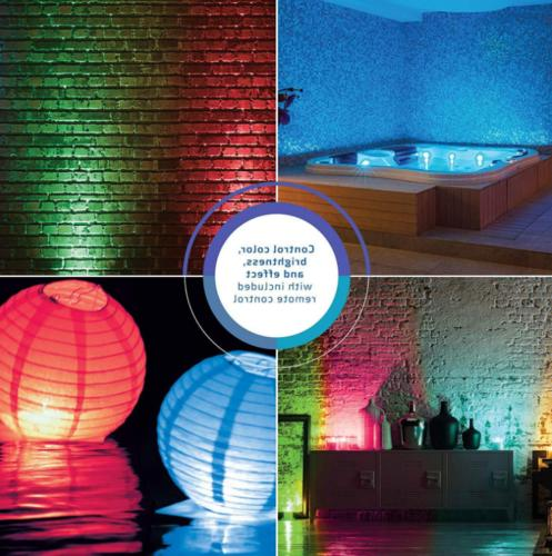 Diving Lights Waterproof Multi Color Remote Control Wireless
