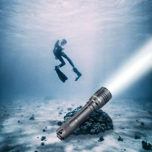 9000lm ipx8 led waterproof flashlight for diving