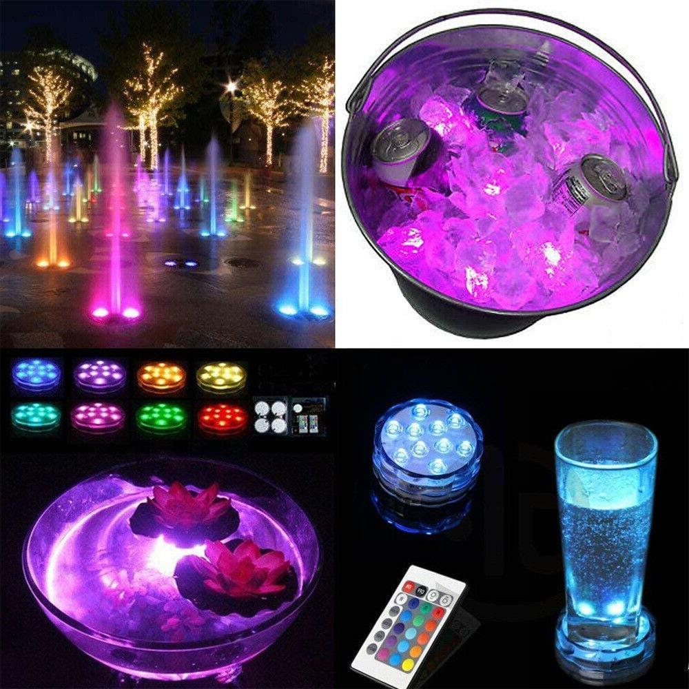 LED Diving Light Waterproof Colorful Remote Control