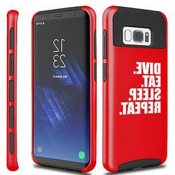 For Samsung S5 S6 S7 Edge S8 + Dual Shockproof Hard Case Div