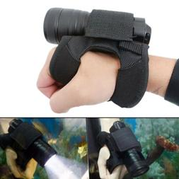 Scuba Diving LED Flashlight Holder Glove Light Lamp Torch Ha