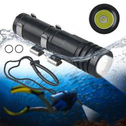 Scuba Diving Torch Underwater LED Flashlight 100M Waterproof