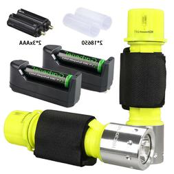 Underwater Diving Scuba T6 LED Flashlight Waterproof Torch L