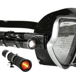 AQUATEC Underwater Led Headlight For Scuba Diving Clip on ma