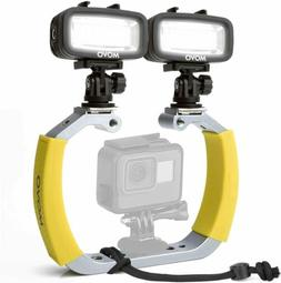 Movo Underwater Scuba Diving Rig Bundle with 2 Waterproof LE