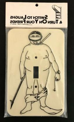 Vintage Novelty Scuba Diving Spearfishing Light Switch Plate