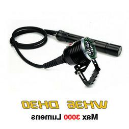 Archon WH36 DH30 Canister Scuba Diving Flashlight 3000LMS w/